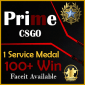 1 service medal 100+ win