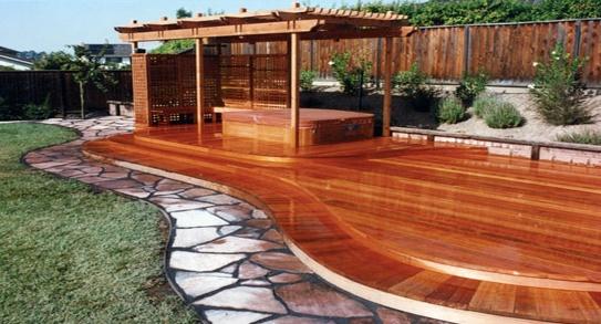 Curved Redwood Deck  Buy Redwood