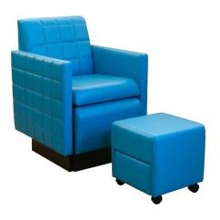 Portable Pedicure Chairs Cast Aluminum Patio Collins 2560 Nouveau Club Chair W Footsie Bath