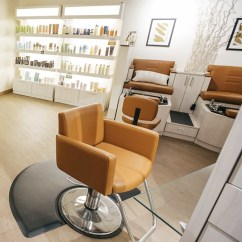 Orange Chair Salon Striped Lounge Collins 6900 Cigno Styling