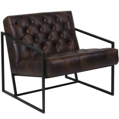 Metal Frame Leather Dining Chair Futon Bed Keane Tufted W