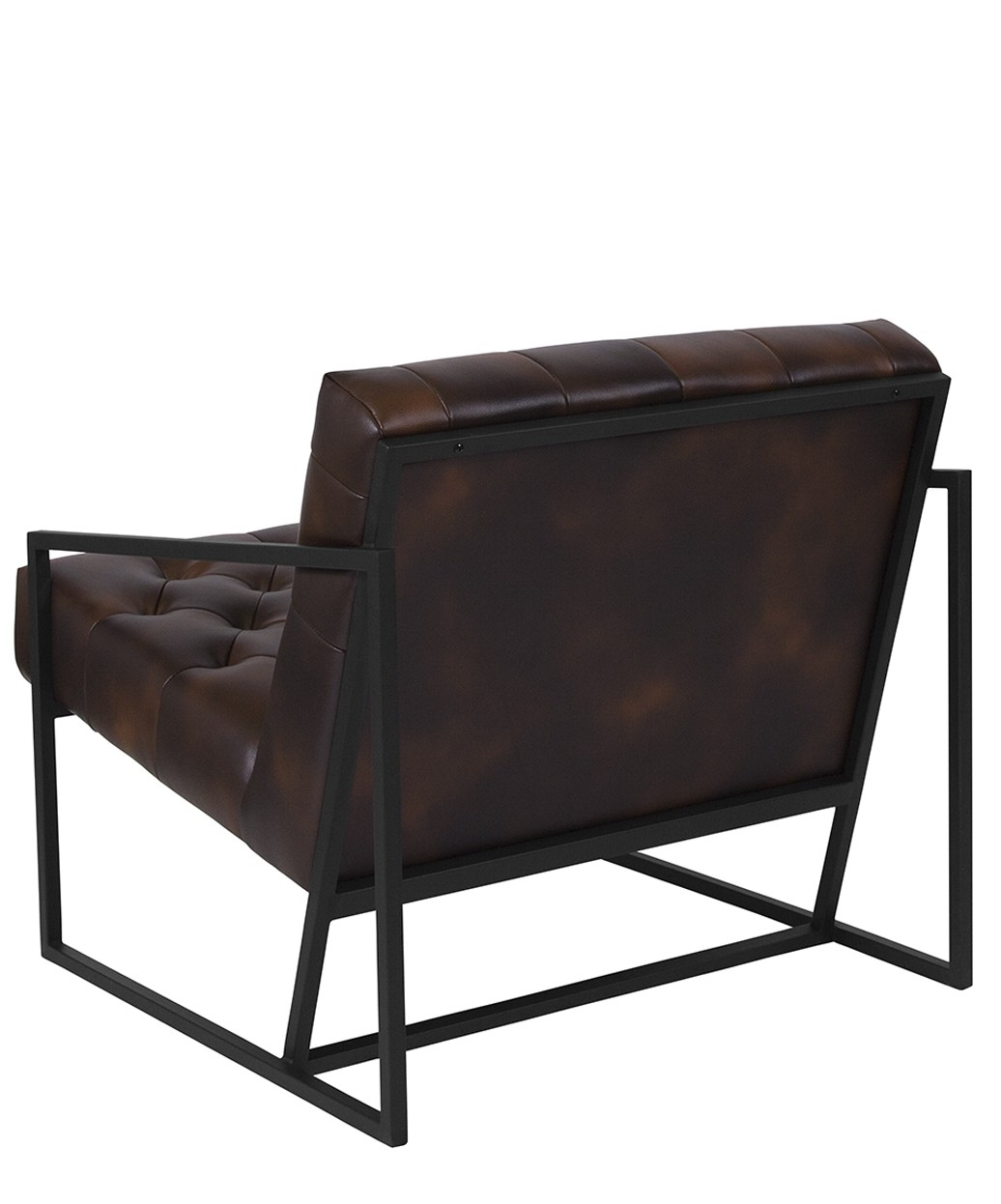 metal frame leather dining chair wicker chairs and table keane tufted w