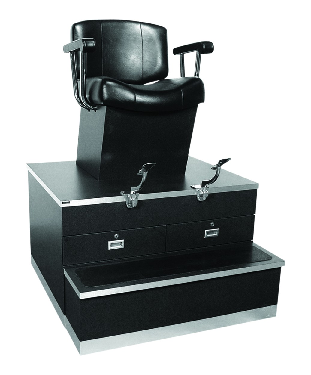 barber shop chairs wooden garden ebay collins 9040 continental shoe shine stand