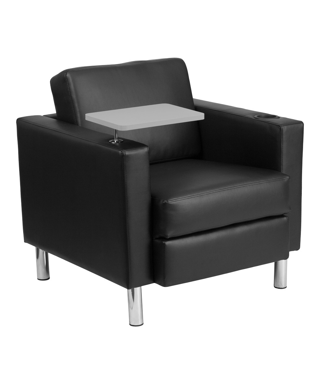 waiting chairs lounge chair patio furniture square leather with tablet arm description the
