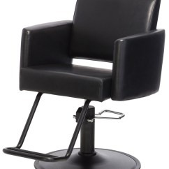 Black Salon Chairs Large Accent With Arms Onyx Styling Chair