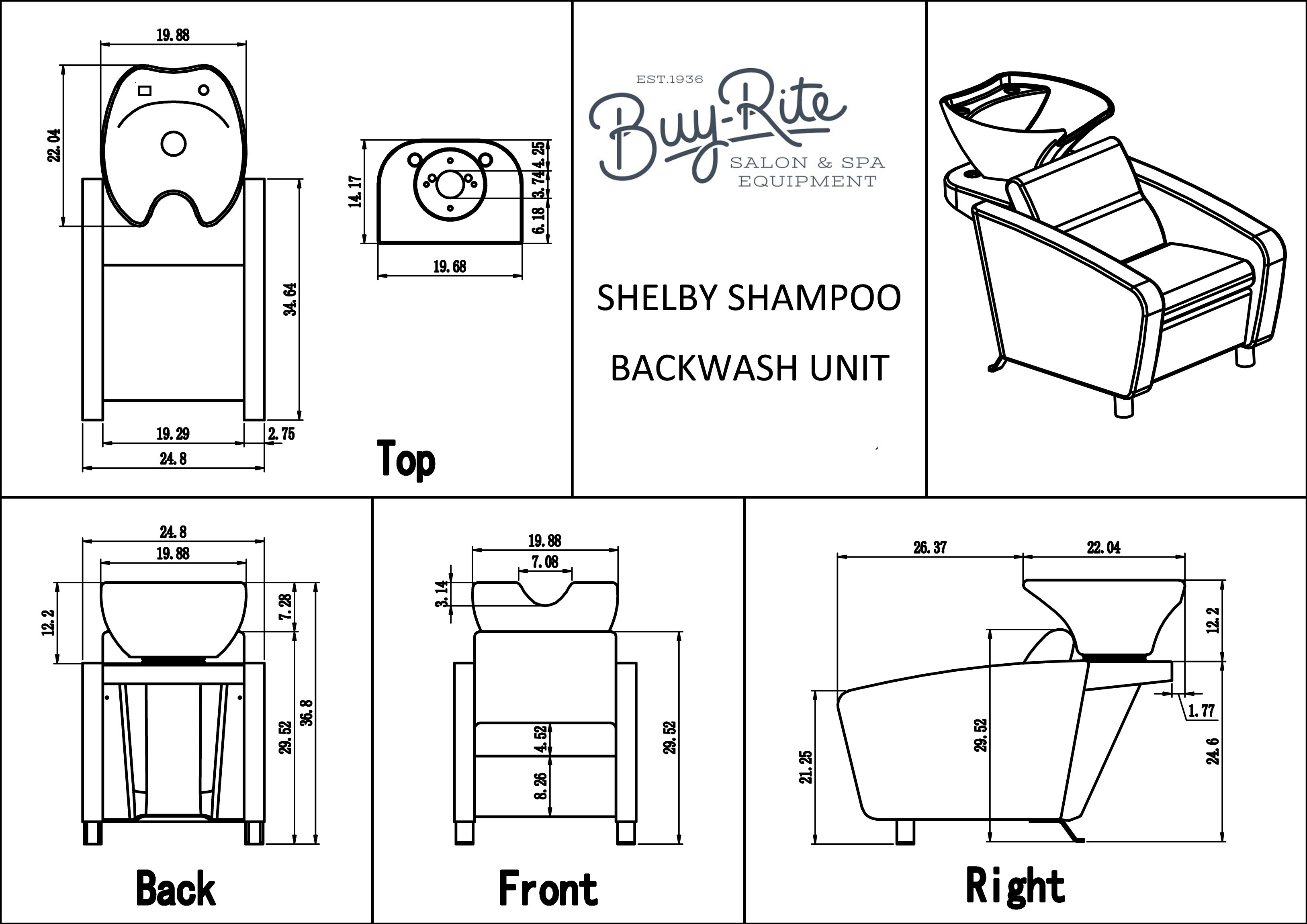 Shelby Backwash Unit European Design Backwash Station