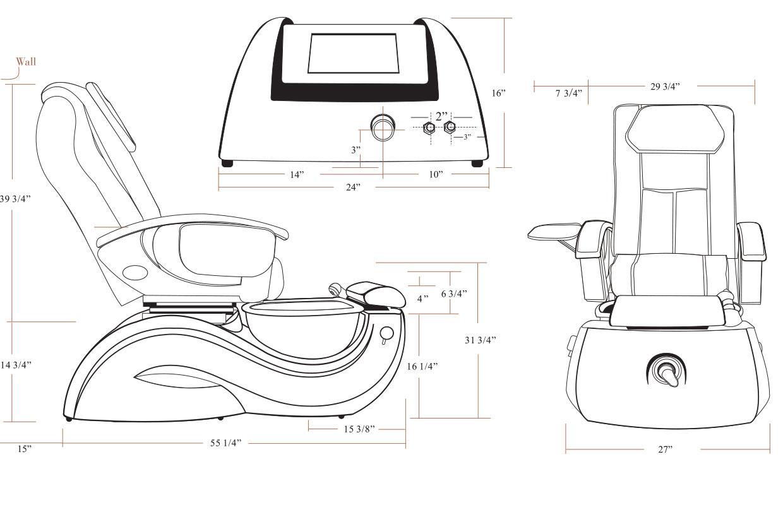 J&A Lenox GX Pedicure Spa w/ Glass Bowl