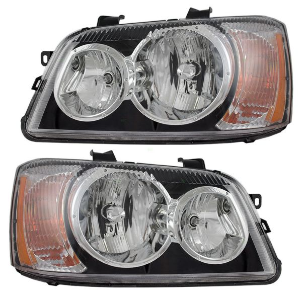 Beaver Motor Coach Contessa Replacement Headlight Assembly Pair (Left & Right)