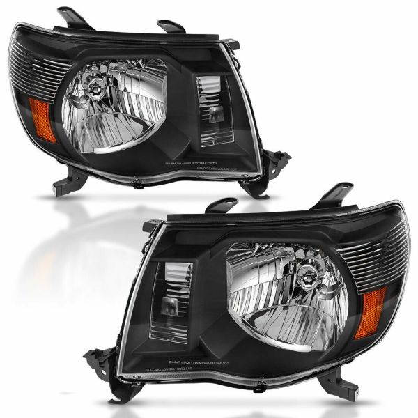 Itasca Sunova Performance Black Headlights Unit Pair (Left & Right)
