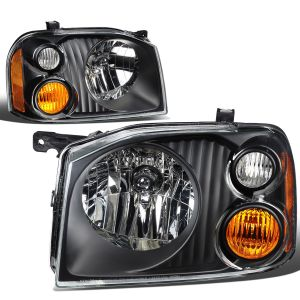 Tiffin Allegro Bus Black Headlight Units Pair (Left & Right)