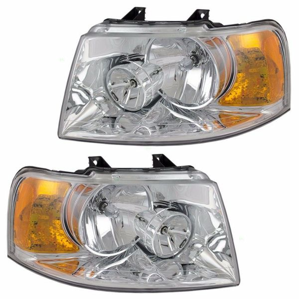 Country Coach Intrigue Headlight Head Lamp Assembly Pair (Left & Right)
