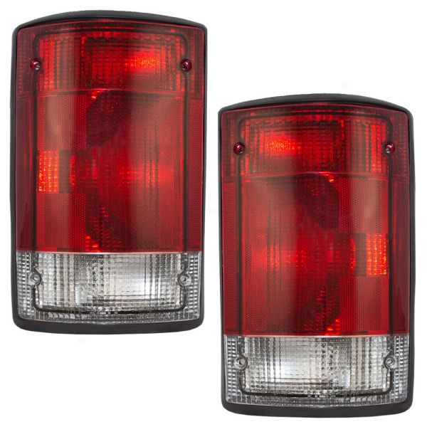 National RV Tradewinds Replacement Tail Light Pair (Left & Right) with Gasket