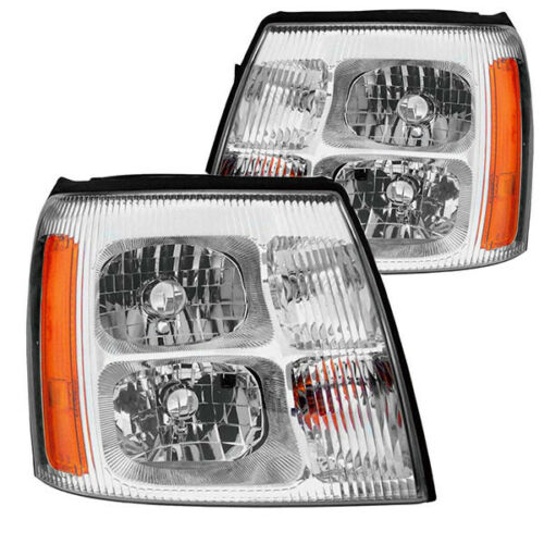 Safari Compression Replacement Headlights Assembly Pair (Left & Right)