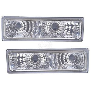 Monaco Dynasty Diamond Chrome Turn Signal Lights Unit Pair (Left & Right)