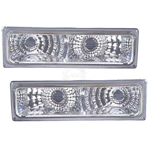 Fleetwood Discovery Diamond Chrome Turn Signal Lights Unit Pair (Left & Right)