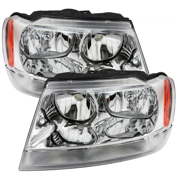 Four Winds Hurricane Performance Chrome Headlights Pair (Left & Right)
