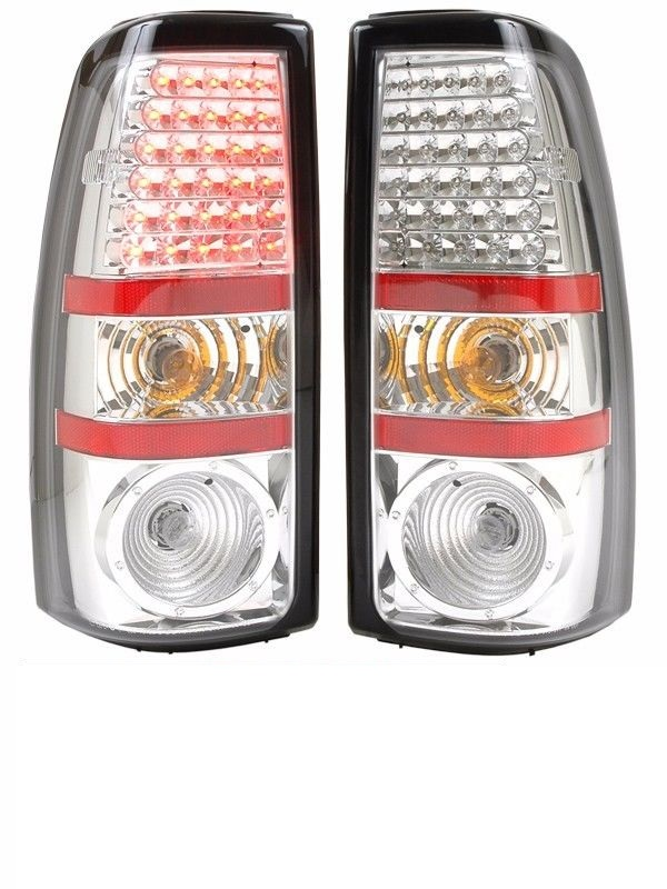 Thor Motor Coach Challenger Chrome LED Tail Lights Rear Lamps Assembly Pair (Left & Right)