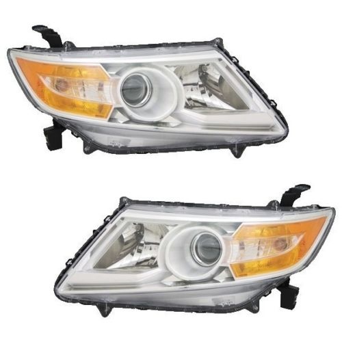 Newmar London Aire Replacement Black Headlight Pair (Left & Right)