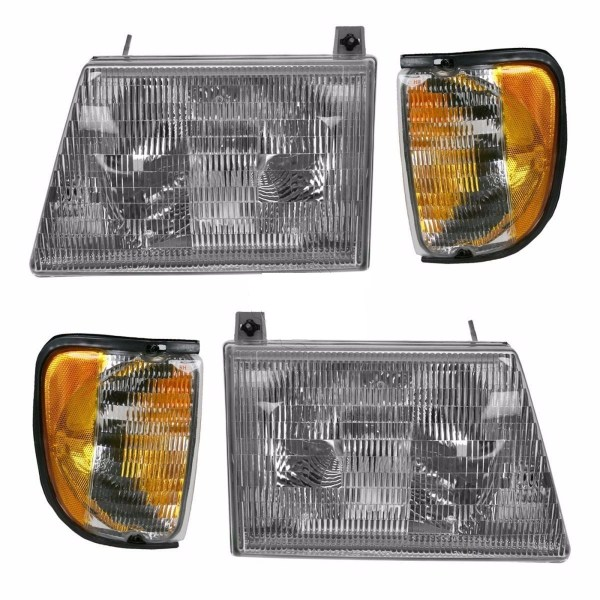 Damon Challenger Replacement Headlights & Signal Lamps 4 Piece Set (Left & Right)