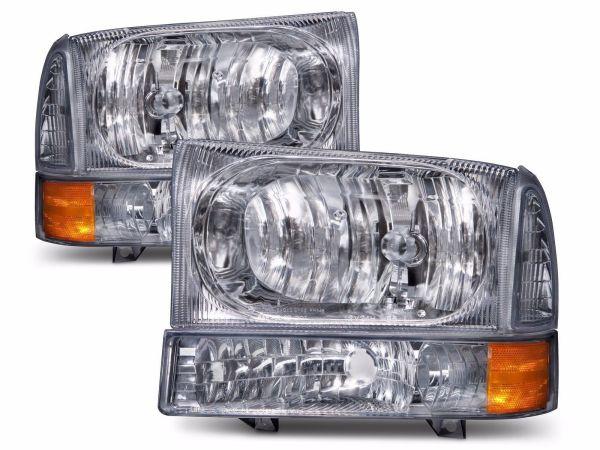 Tiffin Zephyr Diamond Clear Headlights & Signal Lamps 4 Piece Set (Left & Right)