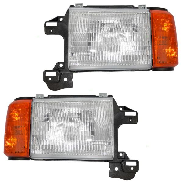 Fleetwood Bounder Replacement Headlight & Corner Light Assembly Pair (Left & Right)
