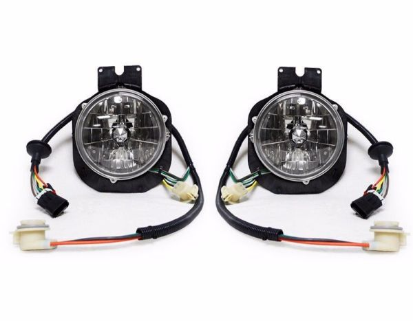 Safari Cheetah Diamond Clear Crystal Outer Headlight Assembly Pair (Left & Right)