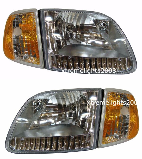 Holiday Rambler Admiral Headlights Assembly & Signal Lights Unit Pair (Left & Right) 4 Piece Set