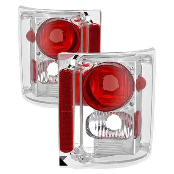 Damon Challenger Performance Chrome Tail Light Lens & Housing Pair (Left & Right)