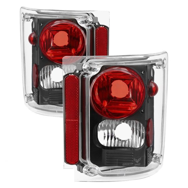 Fleetwood Excursion Lower Performance Black Tail Light Lens & Housing Pair (Left & Right)