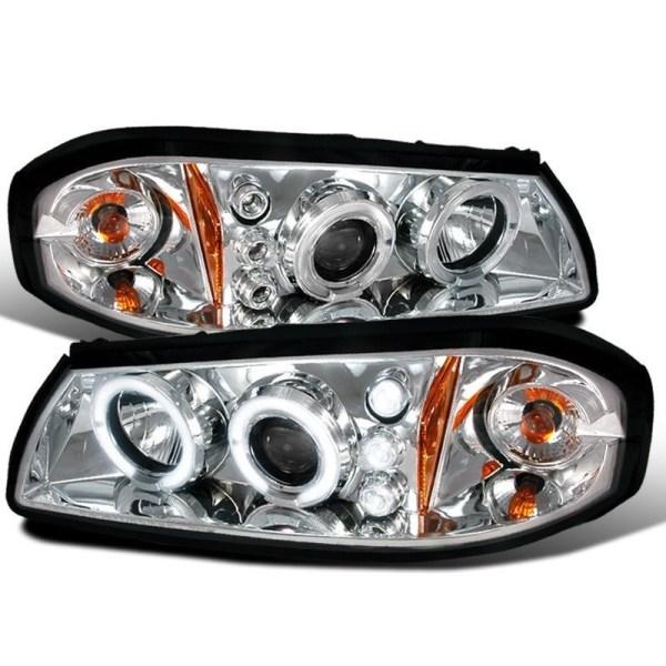 Damon Escaper Chrome Projector Headlights Unit Pair (Left & Right)