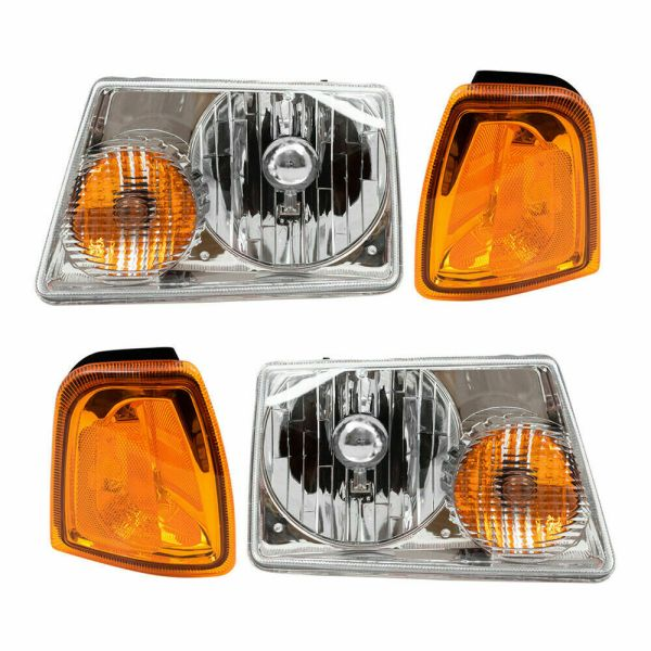 Winnebago Vista Headlights & Signal Lamps 4 Piece Set (Left & Right)