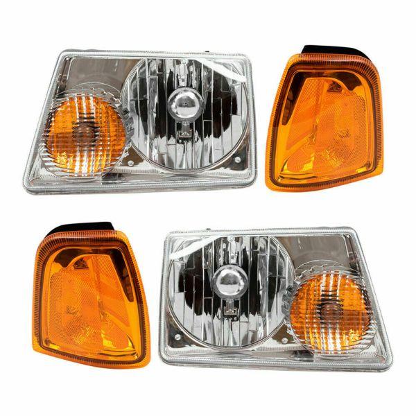 Winnebago Voyage Headlights & Signal Lamps 4 Piece Set (Left & Right)