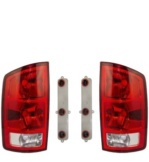 Holiday Rambler Endeavor Replacement Tail Light Units & Connector Plates 4 Piece Set (Left & Right)