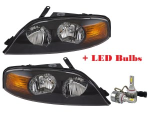 Holiday Rambler Navigator Replacement Headlight Assembly Pair + Low Beam LED Bulbs(Left & Right)