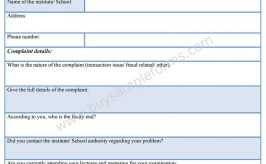 Complaint Resolution Form - Sample Forms
