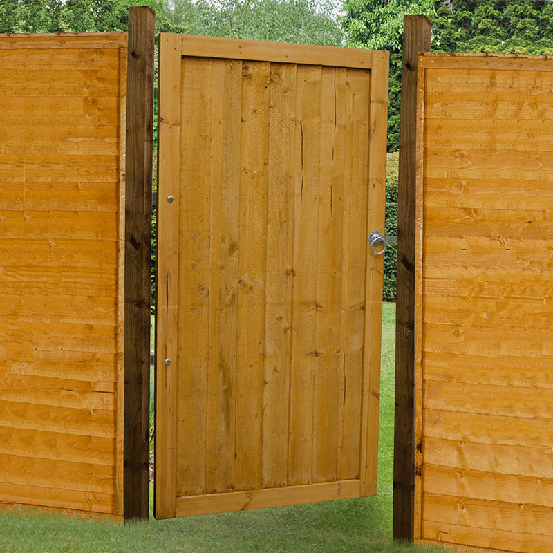 Forest 3 X 6 Featheredge Wooden Side Garden Gate 0 92m X 1 83m Buy Sheds Direct