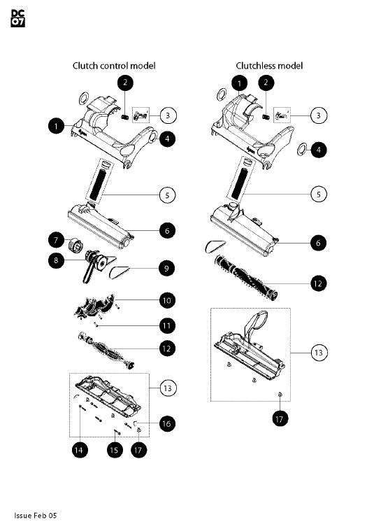 Vacuum Parts: Dyson Vacuum Parts Dc07