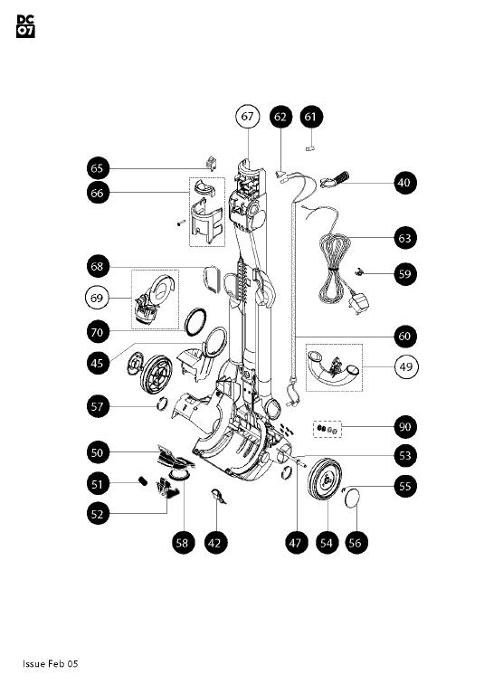 Wiring Database 2020: 30 Dyson Dc07 Parts Diagram