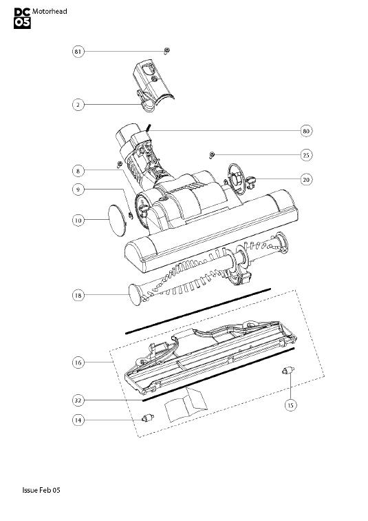 Dyson DC05 Motorhead Vacuum Cleaner Parts