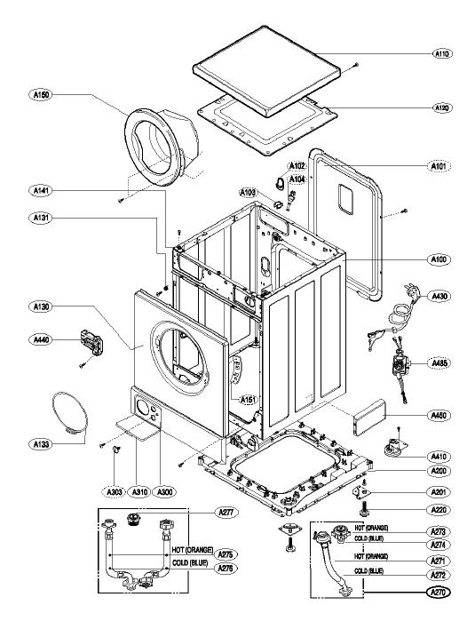 LG WM16110FD Washing Machine Spares