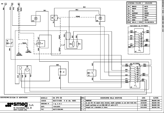 wiring diagram for smeg oven