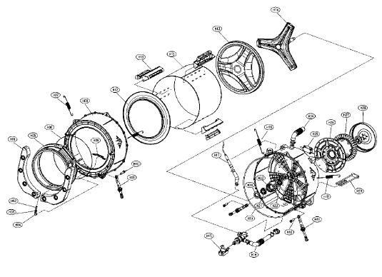 Daewoo DWD-1211 Washing Machine Spares