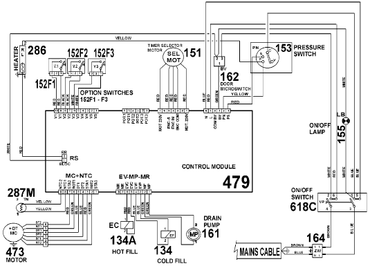Kenmore Model 110 Motor Wiring Schematic Within Diagram