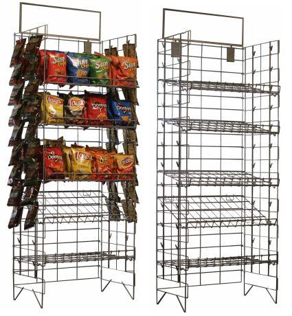 chips display snacks rack gas station