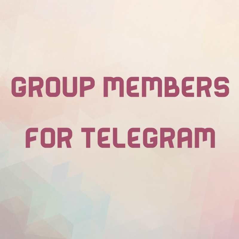 Group Members For Telegram App