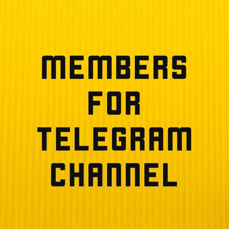 Buy telegram members buy telegram channel members