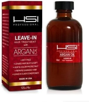 HSI Professional Argan Oil Leave-in Conditioner, 4 Ounce