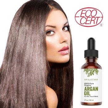 Aria Starr Beauty ORGANIC Argan Oil For Hair, Skin, Face, Nails, Cuticles & Beard