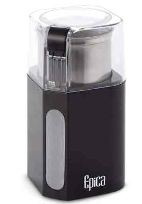 Epica Electric Coffee Grinder & Spice Grinder -Stainless Steel Blades and Removable Grinding Cup for Easy Pouring- Strongest Motor on the Market 250 Watt For Fastest and Most Efficient Grinding