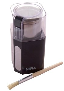 MIRA Electric Spice and Coffee Grinder, Stainless Steel Blades, Removable Cup, Cleaning Brush